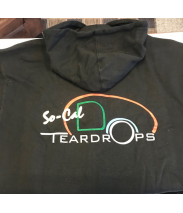 So-Cal Teardrops Hooded Zip-Up Sweatshirt CAD Drawing