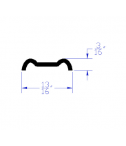 Side Edge Molding CAD Drawing