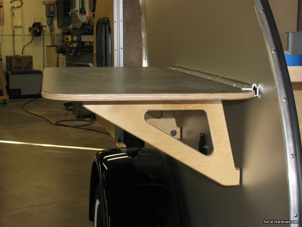 So cal teardrops parts side table mount trim - Rv side tables ...